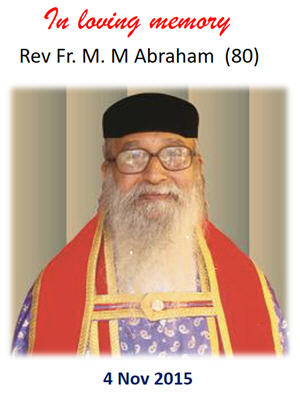 Rev. Fr. M.M Abraham Memorial Award